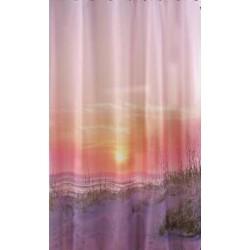 Κουρτίνα μπάνιου PEVA με 12 κρίκους 177x182cm - Sunset