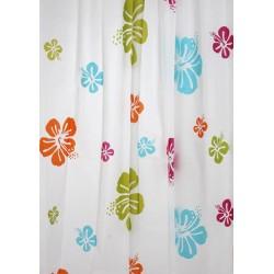 Κουρτίνα μπάνιου EVA με 12 κρίκους 180x180cm - Floral 53154