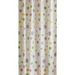 Κουρτίνα μπάνιου EVA με 12 κρίκους 180x180cm - Floral 53152