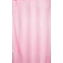Αδιάβροχη κουρτίνα μπάνιου ριγέ 180x180cm - Ροζ