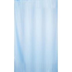 Αδιάβροχη κουρτίνα μπάνιου ριγέ 180x180cm - Γαλάζιο