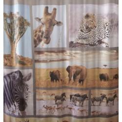 Αδιάβροχη υφασμάτινη κουρτίνα μπάνιου Wildlife Animal 180x180cm