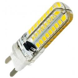 Λαμπτήρας οικονομίας 48 LED G9 / 5W, θερμό φως με περίβλημα σιλικόνης