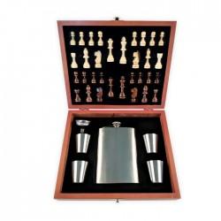 Σετ Σκάκι με φλασκί και 4 σφηνοπότηρα