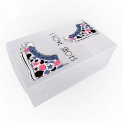 Κουτί αποθήκευσης παπουτσιών - Αντρικό - Σετ 4 τμχ (33x20x13 cm)