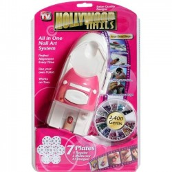 Σετ Διακόσμησης Νυχιών - Hollywood nail art stamping kit + 2400 στρας