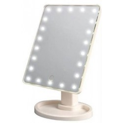 Μεγάλος καθρέπτης μακιγιάζ με φωτισμό LED