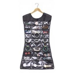 Κρεμαστή θήκη φόρεμα για τα κοσμήματα και τα αξεσουάρ σας 2 όψεων 80x42