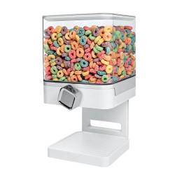 Τετράγωνο δοχείο αποθήκευσης δημητριακών - 500g - Άσπρο