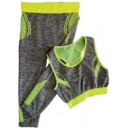 Ελαστικό μπούστο και βερμούδα για άσκηση Yoga Wear suit slimming