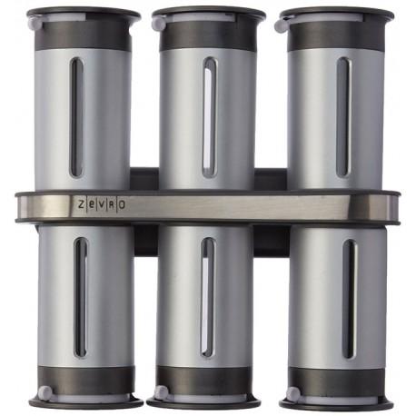 Σετ βαζάκια μπαχαρικών 6 τεμαχίων με μαγνητική βάση και αεροστεγές κλείσιμο