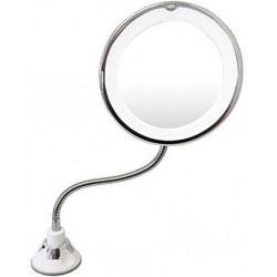 Μεγεθυντικός καθρέφτης με βεντούζα και φωτισμό Led