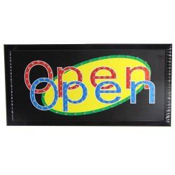 Φωτεινή επιγραφή LED Open Open