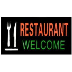 Φωτεινή επιγραφή LED Restaurant Welcome