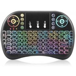 Mίνι ασύρματο πληκτρολόγιο με touchpad και backlight RGB