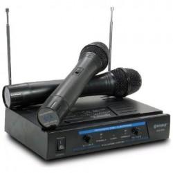Σύστημα καραόκε VHF με δύο ασύρματα μικρόφωνα και ψηφιακή μείωση θορύβου WG-006