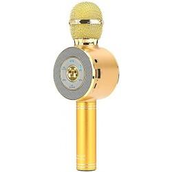 Wster WS-668 Ασύρματο bluetooth μικρόφωνο με ενσωματωμένο ηχείο, karaoke και disco light led