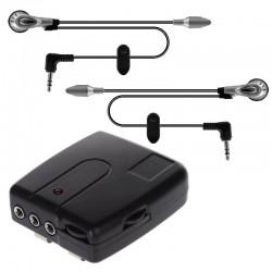 Σύστημα ενδοεπικοινωνίας μοτοσυκλέτας με 2 μικρόφωνα