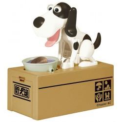Έξυπνος κουμπαράς πεινασμένο σκυλάκι λευκό