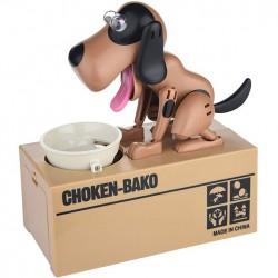 Έξυπνος κουμπαράς πεινασμένο σκυλάκι καφέ