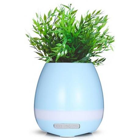 Bluetooth γλαστράκι με ηχείο και LED φωτισμό - Γαλάζιο