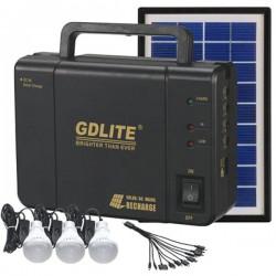 Ηλιακό σύστημα φωτισμού 3,5W με 3 λάμπες σε Βαλίτσα, GDLITE, GD-8006A