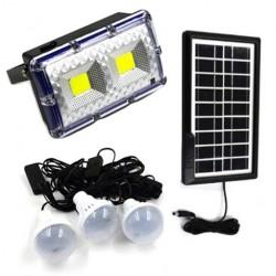 Ηλιακό σύστημα φωτισμού με 3 λάμπες και μεγάλης ισχύος φακό GDPLUS GD-11