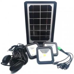 Ηλιακό σύστημα φωτισμού με 3 λάμπες led και φακό CL-06A
