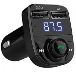 CAR X8 FM Transmitter, 2 USB φορτιστής αυτοκινήτου, hands free - wireless bluetooth