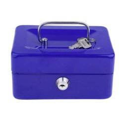 Μεταλλικό cash box ασφαλείας για μεταφορά αποθήκευση χρημάτων - μπλε