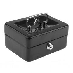Μεταλλικό cash box ασφαλείας για μεταφορά αποθήκευση χρημάτων - μαύρο