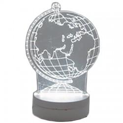 Διακοσμητικό τρισδιάστατο φωτιστικό υδρόγειος - 3D Creative Light