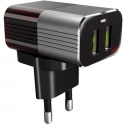Φορτιστής πρίζας με 2 εξόδους USB 2.4A - LDNIO A2206