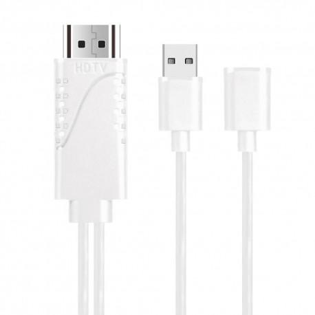 Phone to HDTV Adapter OT-7562S Λευκό