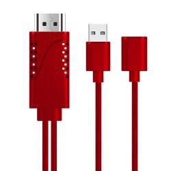 Phone to HDTV Adapter OT-7562S Κόκκινο