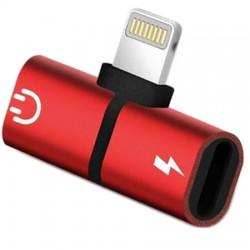 Αντάπτορας Lightning splitter Κόκκινο