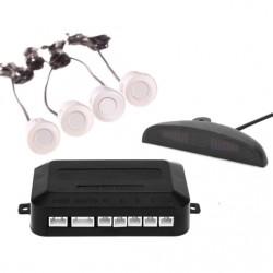 Σύστημα παρκαρίσματος με 4 αισθητήρες και LED οθόνη - Λευκό
