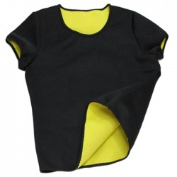 Γυναικεία μπλούζα κοντομάνικη εφίδρωσης και αδυνατίσματος από Neoprene ΟΕΜ 52908