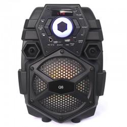 """Φορητό bluetooth LED ηχείο 6.5"""" - Q6"""