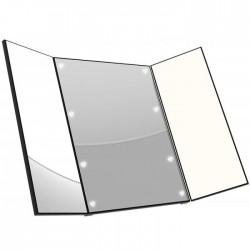 Αναδιπλούμενος καθρέφτης με 8 led