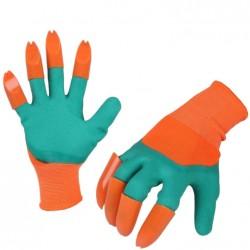"""Γάντια κηπουρικής με """"νύχια"""" για σκάψιμο - Πορτοκαλί πράσινο"""