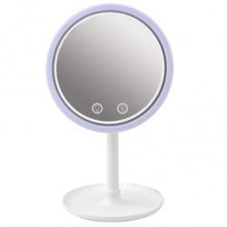 Στρογγυλός LED καθρέφτης ανεμιστήρας για μακιγιάζ με μεγέθυνση X5