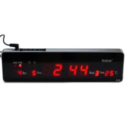 Ρολόι τοίχου και επιτραπέζιο LED HOBAR 808