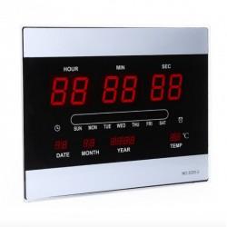 Ψηφιακό Ρολόι - Πινακίδα LED με θερμόμετρο, ημερολόγιο 3320-3