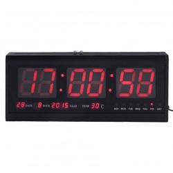 Ψηφιακό ρολόι τοίχου - Πινακίδα LED με Θερμόμετρο και Ημερολόγιο 4819