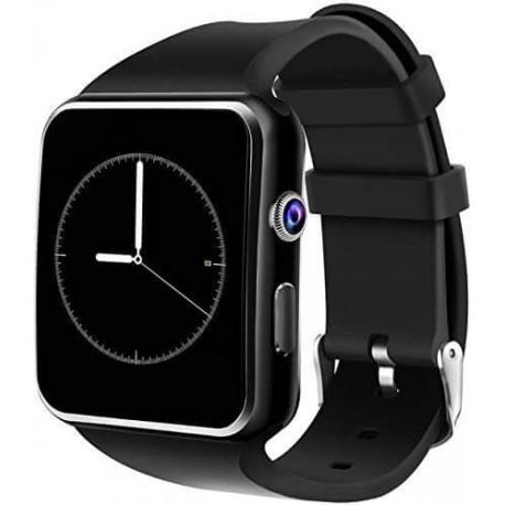 Ρολόι Smart Watch X6 - Bluetooth, κάμερα, κάρτα μνήμης & sim - Μαύρο