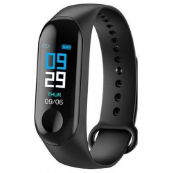 Smart bracelet bluetooth smartwatch με καταγραφή βημάτων, ύπνου & καρδιακών παλμών - ΟΕΜ Μ3