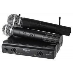 Συσκευή karaoke UHF με 2 μικρόφωνα Weisre PGX-58