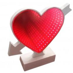Led 3D Tunnel light διακοσμητικό καρδιά