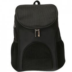 Τσάντα μεταφοράς backpack για μικρά κατοικίδια - Μαύρο